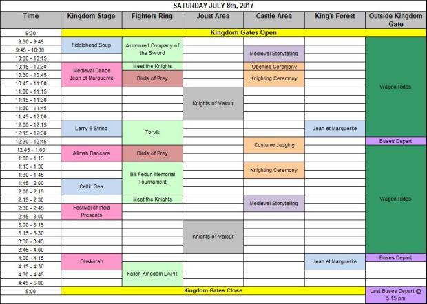 2017 OMF Schedule_Saturday